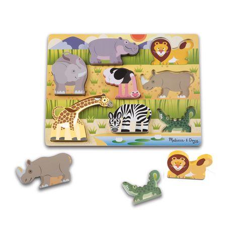 Melissa & Doug Puzzle À Pièces Épaisses Amis De Safari - image 1 de 1