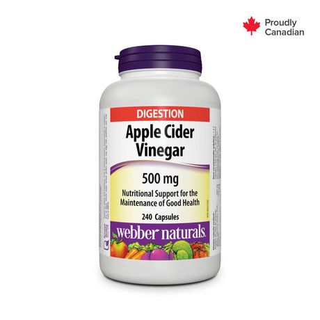 """Webber Naturals® Apple Cider Vinegar, 500 mg, 240"