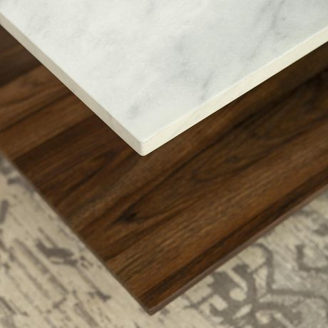 Manor Park Mid Century Modern Square Coffee Table - Marble & Gold - image 4 of 7
