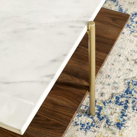 Manor Park Mid Century Modern Square Coffee Table - Marble & Gold - image 6 of 7