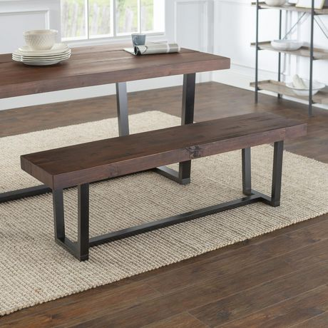 Superb Manor Park 60 Industiral Farmhouse Dining Bench Mahogany Alphanode Cool Chair Designs And Ideas Alphanodeonline