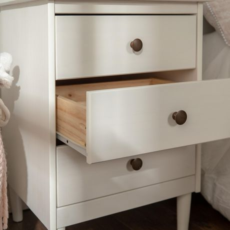Manor Park Modern 3 Drawer Wood Nightstand - Multiple Finishes - image 2 of 5