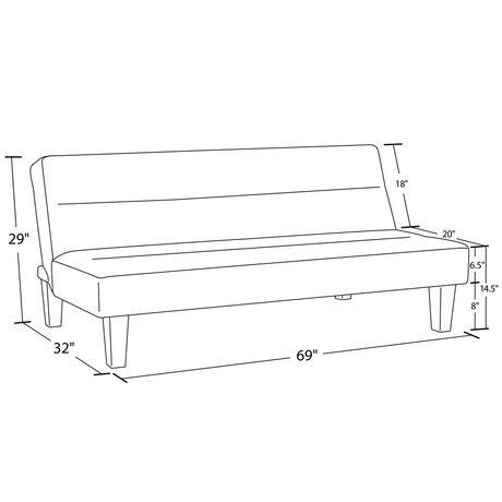 DHP Canapé-lit futon Kebo, gris - image 2 de 4