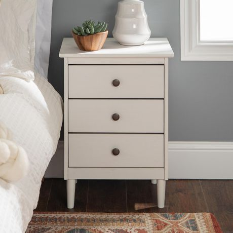 Manor Park Modern 3 Drawer Wood Nightstand - Multiple Finishes - image 1 of 5