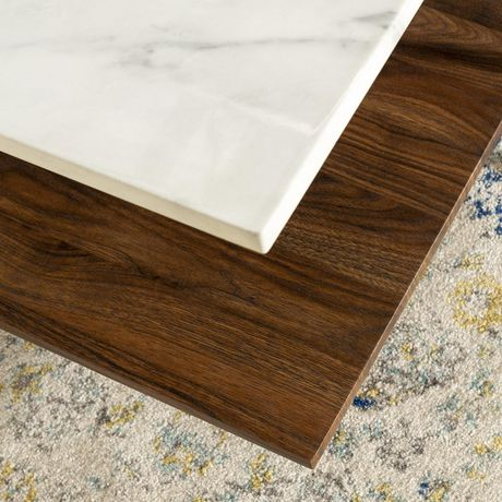 Manor Park Mid Century Modern Square Coffee Table - Marble & Gold - image 5 of 7