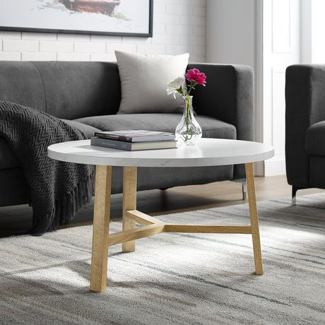Manor Park Mid Century Modern Round Coffee Table - Multiple Finishes - image 1 of 6