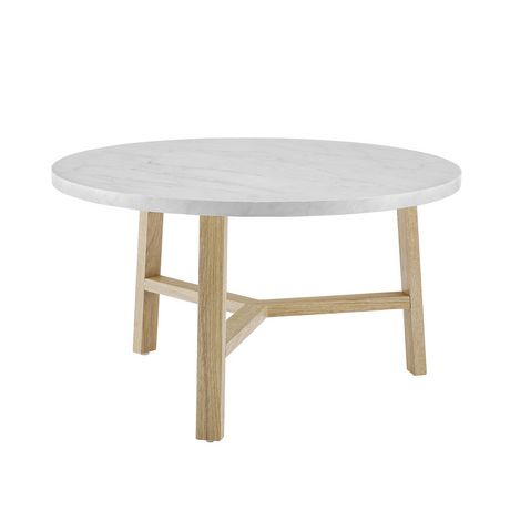 Manor Park Mid Century Modern Round Coffee Table - Multiple Finishes - image 4 of 6