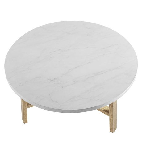 Manor Park Mid Century Modern Round Coffee Table - Multiple Finishes - image 5 of 6