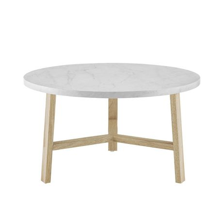 Manor Park Mid Century Modern Round Coffee Table - Multiple Finishes - image 2 of 6