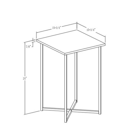 Manor Park Modern Square Side Table - Multiple Finishes - image 8 of 8