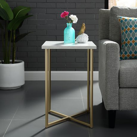 Manor Park Modern Square Side Table - Multiple Finishes - image 2 of 8