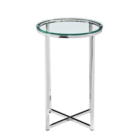 Manor Park Round Side Table - Glass/Chrome - image 4 of 7