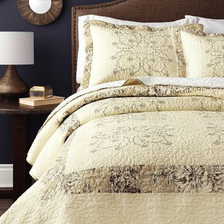 Hometrends Square Embroidered Quilt Set Walmart Canada