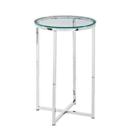 Manor Park Round Side Table - Glass/Chrome - image 6 of 7