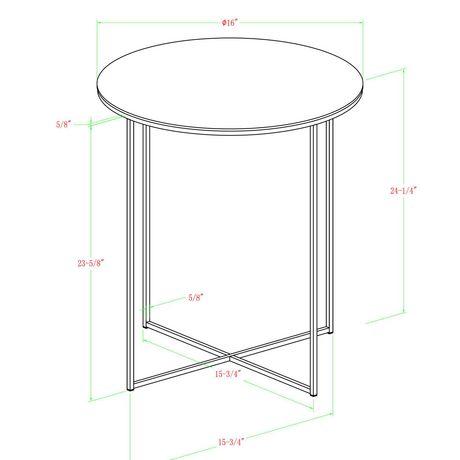 Manor Park Round Side Table - Dark Walnut/Gold - image 6 of 7
