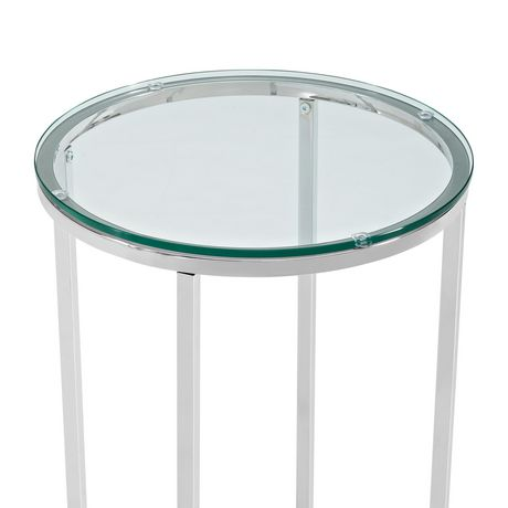 Manor Park Round Side Table - Glass/Chrome - image 5 of 7