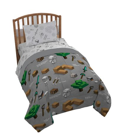 Minecraft 4pc Twin Bed Set And Bonus Tote Walmart Canada