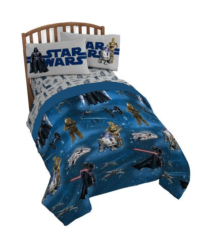 Star Wars 4pc Twin Bed Set and Bonus Tote. - image 1 of 1