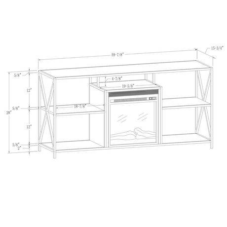 """Manor Park Rustic Industrial Fireplace TV Stand for TV's up to 66"""" - Barnwood - image 5 of 6"""