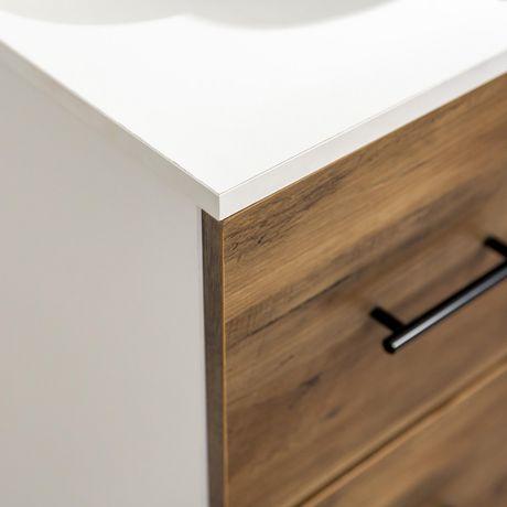 Manor Park Modern Transitional 6-Drawer Dresser - White/Reclaimed Barnwood  - image 4 of 6