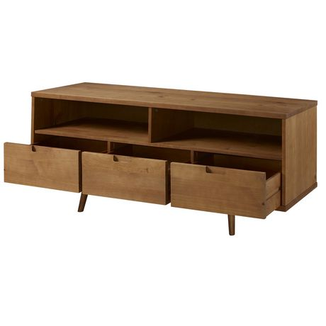 "Manor Park 3-Drawer Mid Century Modern TV Stand for TV's up to 64""- Multiple Finishes - image 6 of 6"