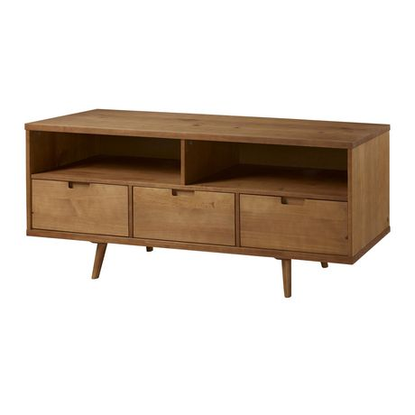 "Manor Park 3-Drawer Mid Century Modern TV Stand for TV's up to 64""- Multiple Finishes - image 2 of 6"