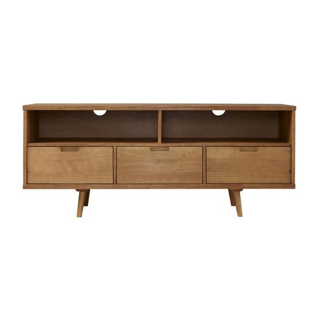 "Manor Park 3-Drawer Mid Century Modern TV Stand for TV's up to 64""- Multiple Finishes - image 3 of 6"