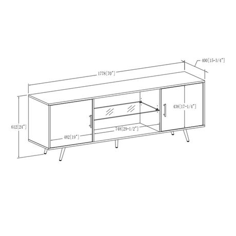 """Manor Park Mid Century Modern TV Stand for TV's up to 78""""- Multiple Finishes - image 6 of 6"""