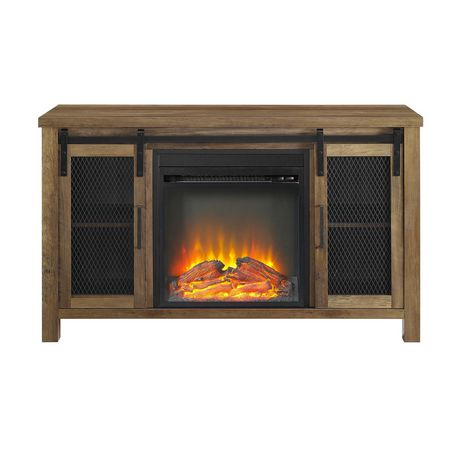 """Manor Park Rustic Farmhouse Fireplace TV Stand for TV's up to 52"""" - Multiple Finishes - image 4 of 9"""
