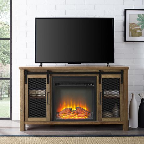 """Manor Park Rustic Farmhouse Fireplace TV Stand for TV's up to 52"""" - Multiple Finishes - image 1 of 9"""