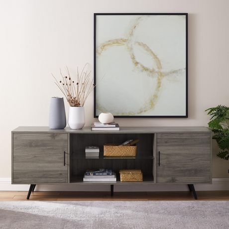 """Manor Park Mid Century Modern TV Stand for TV's up to 78""""- Multiple Finishes - image 1 of 6"""