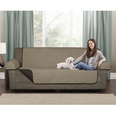 Mainstays Microfiber Reversible Loveseat Pet Cover