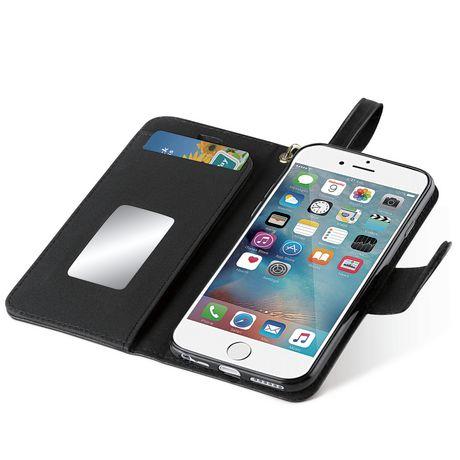 innovative design fe0d9 87345 blackweb Wallet Case with Wristlet for iPhone 6/7