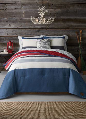 Canadiana Signature Stripe Comforter Set Walmart Ca