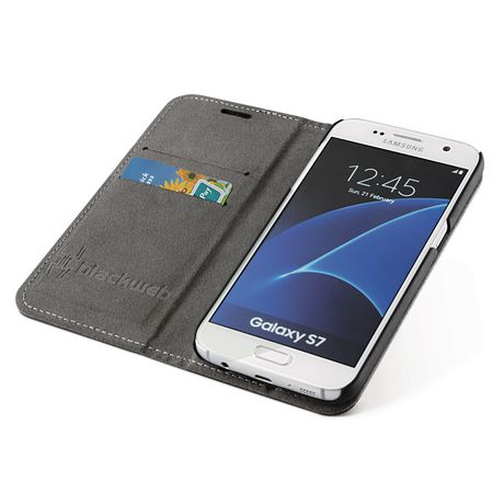 timeless design 78933 3bba9 blackweb 2-In-1 Magnetic Wallet Case for Galaxy S7