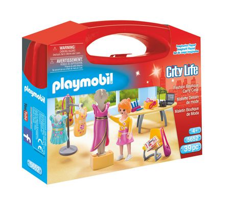 playmobil fashion boutique carry case playset walmart canada - Play Mobile Fille