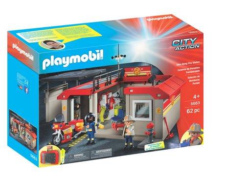 playmobil take along fire station playset walmart canada. Black Bedroom Furniture Sets. Home Design Ideas