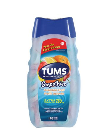 Tums Extra Strength 750mg Smoothies Antacid for Heartburn Relief - image 1 of 2