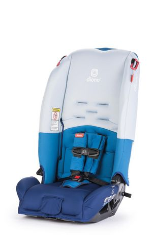 Blue and white convertible car seat made by Diono Radian 3R
