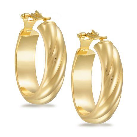Ti Amo 18K Gold over Bronze Earrings - image 1 of 2