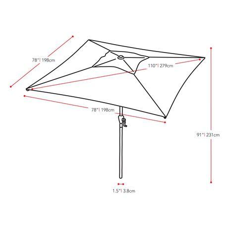 CorLiving 6.5 Ft Square Patio Umbrella - image 7 of 7