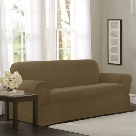 Mainstays Newman Stretch 1 Piece Loveseat Slipcover Gold
