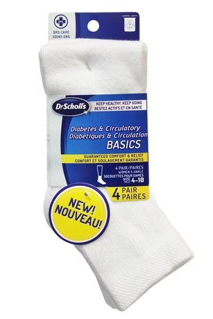 Dr Scholl S Women S Diabetes And Circulatory Ankle Socks 4 Pairs