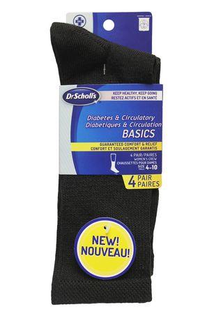 site réputé 09017 520ef Chaussette pour diabetiques et circulation de Dr. Scholl's pour dames - 4  paires