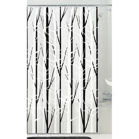 Mainstays Woodland PEVA Shower Curtain