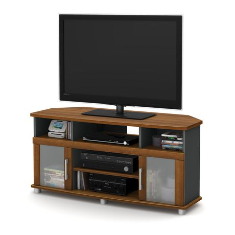 south shore city life corner tv stand for tvs up to 50 inches walmart canada - Corner Tv Stands For 50 Inch Tv