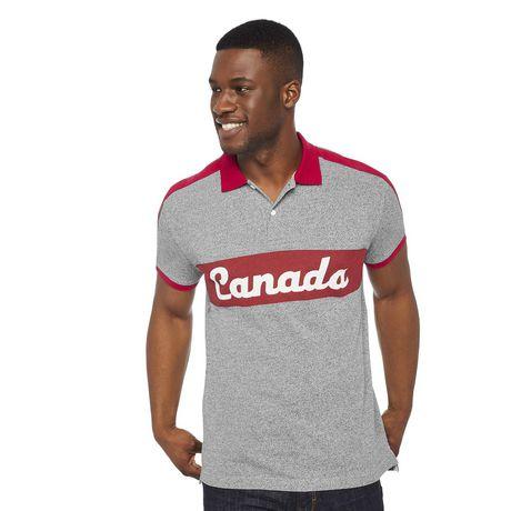 Polo piqué avec logo du Canada Canadiana Plus pour hommes - image 1 de 6