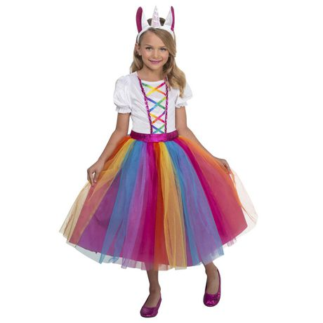 Girls' Dashing Unicorn Costume M. Walmart Exclusive. - image 1 of 3