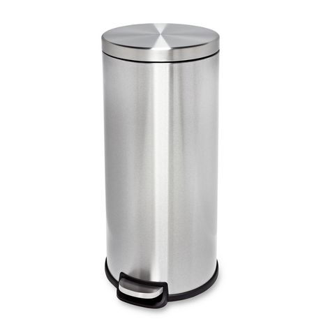 30l Stainless Steel Step Trash Can Walmart Canada