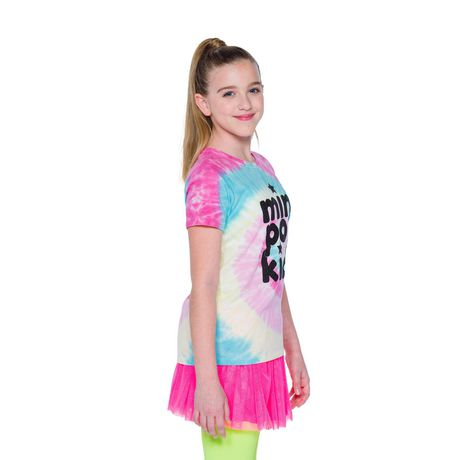 Girls' Mini Pop Kids Shimmer Multi-Colour Tie Die T Shirt - image 2 of 7